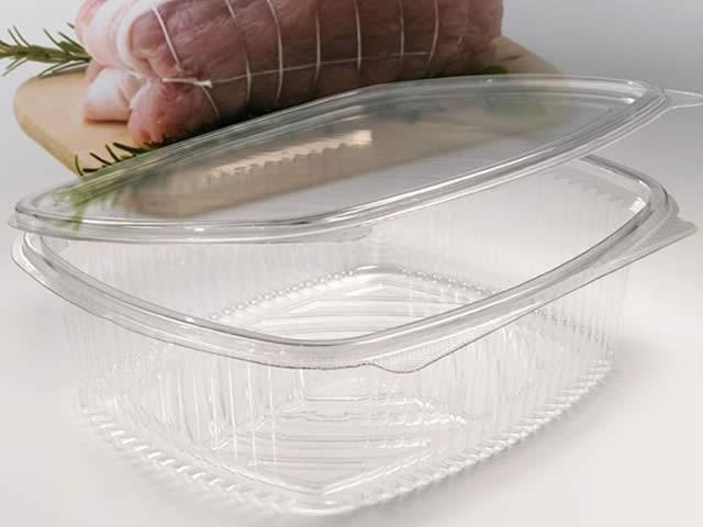 contenitore per alimenti, trasparente ovale 250cc. - vaschette e