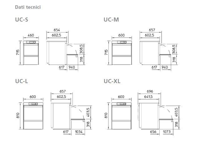 Lavastoviglie Winterhalter E Accessori · Lavastoviglie Sottobanco;  Lavastoviglie Serie UC S